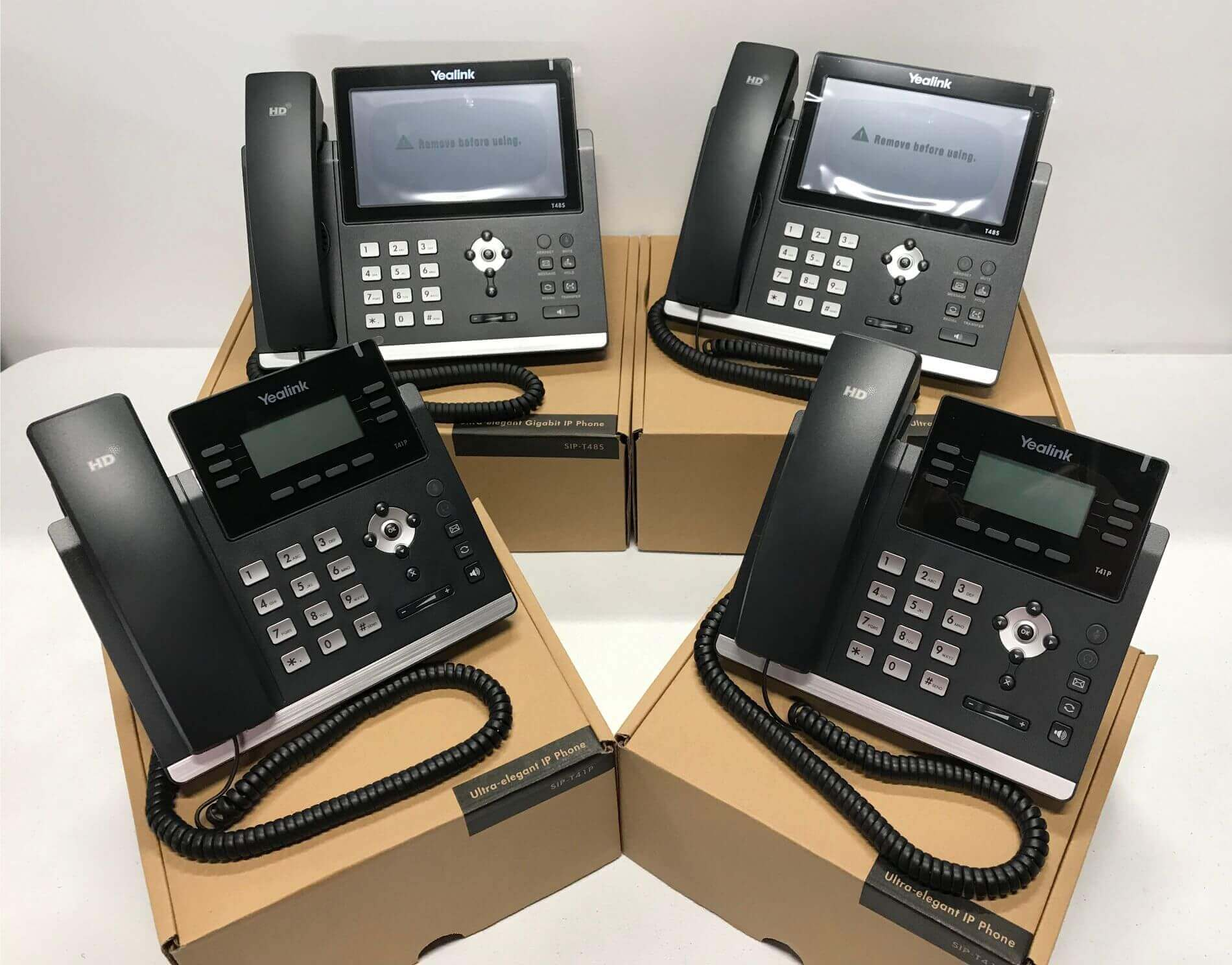Cloud Hosted Phone System with 4 Yealink handsets