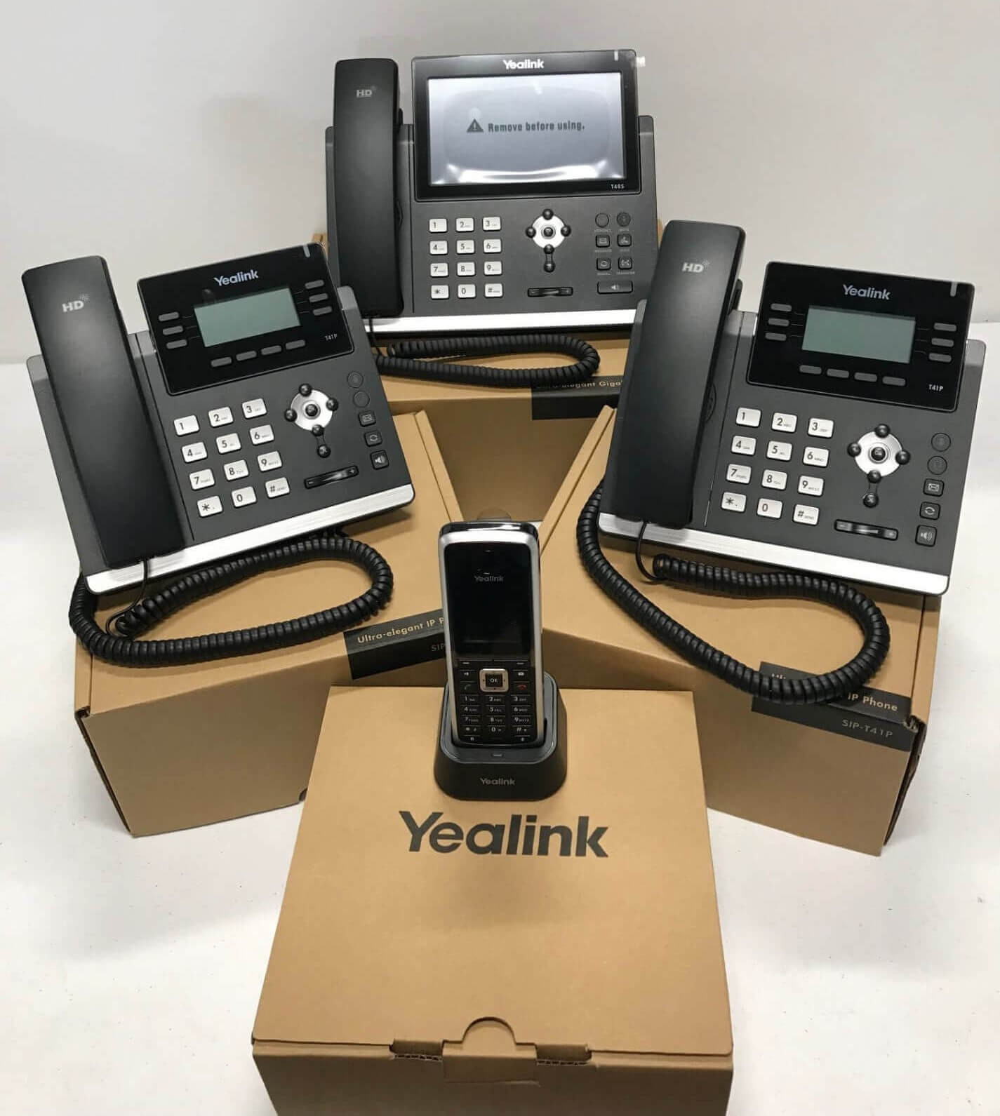 Cloud Based Hosted Phone System with 3 handsets and cordless phone