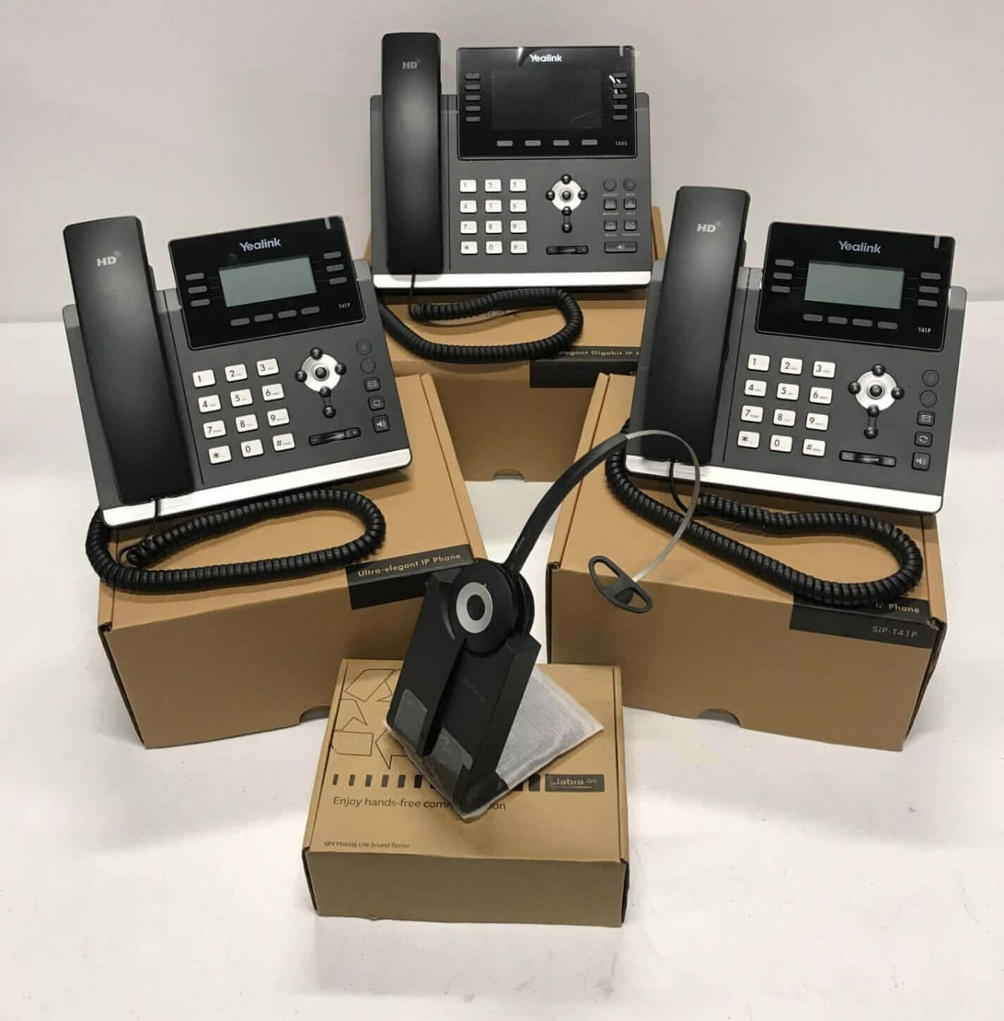 Cloud Hosted Phone System with phones and cordless headset