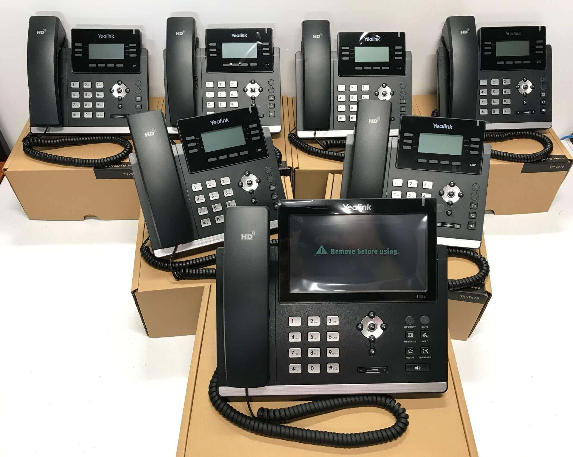 Cloud Hosted Phone System with 7 Yealink handsets