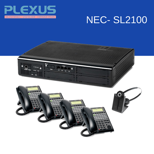 NEC SL2100 package with 4 handsets