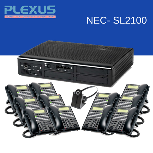 NEC SL2100 with 11 digital phones