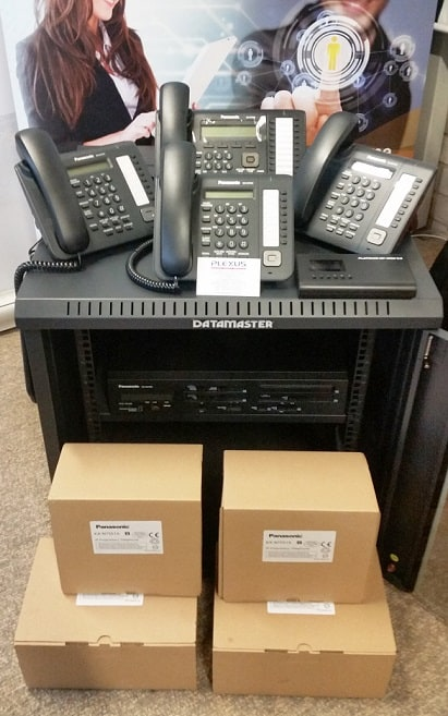 Panasonic NS700 package with 7 phones and data cabinet