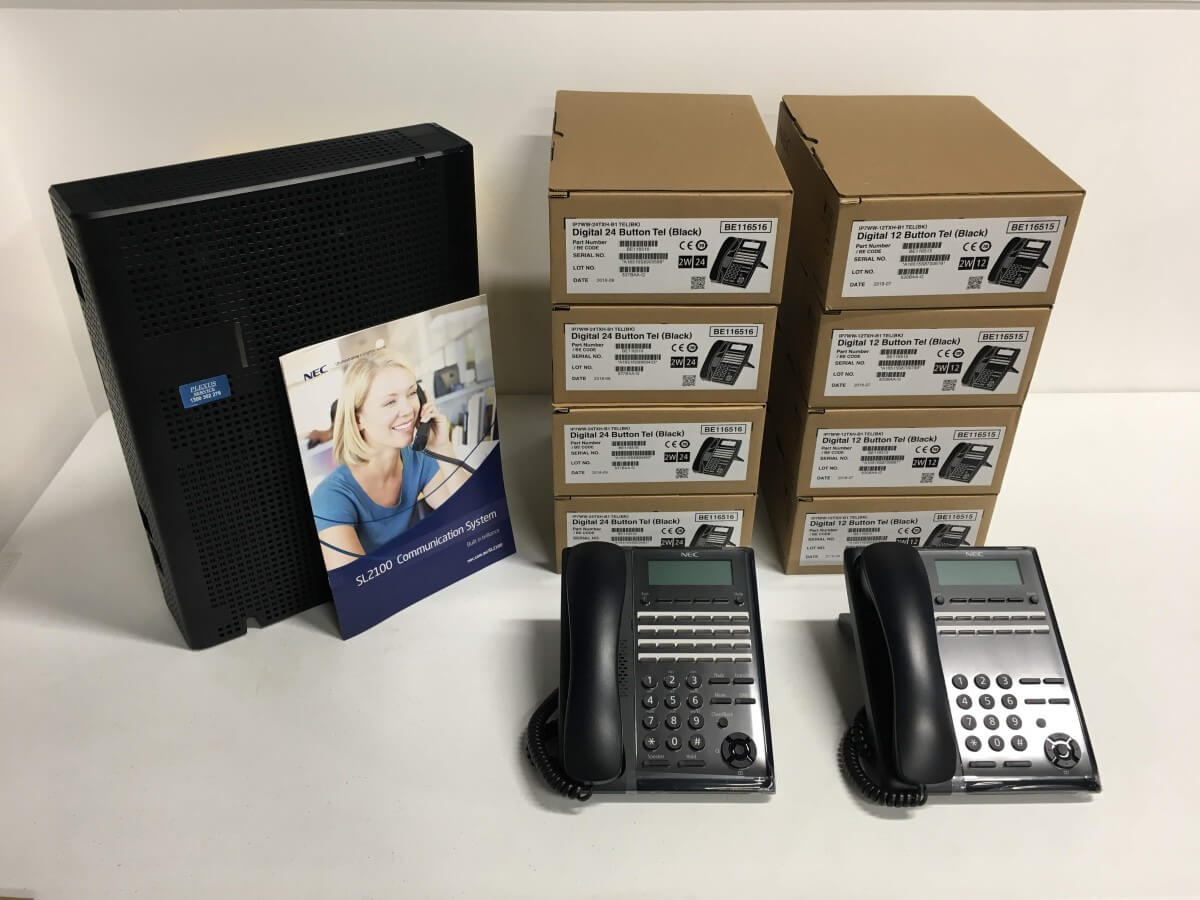 NEC SL2100 Phone System with 8 Phones