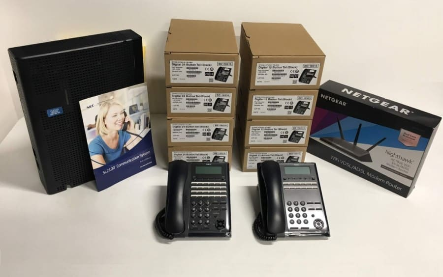 SL2100 phone system with 8 handsets