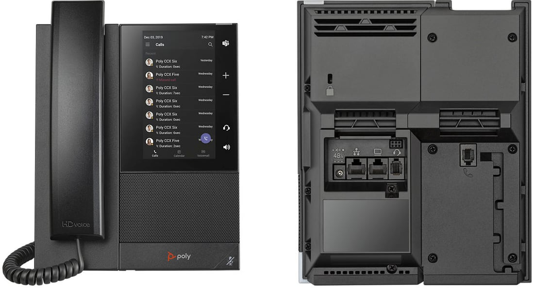 Poly CCX-500 Front and Back