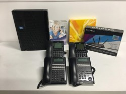 NEC_SL2100_Phone_System_with_4_Phones_and_Router