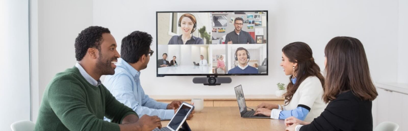 Logitech video conferencing meeting room
