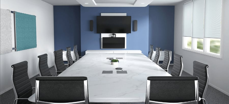 Logitech video conferencing room installation