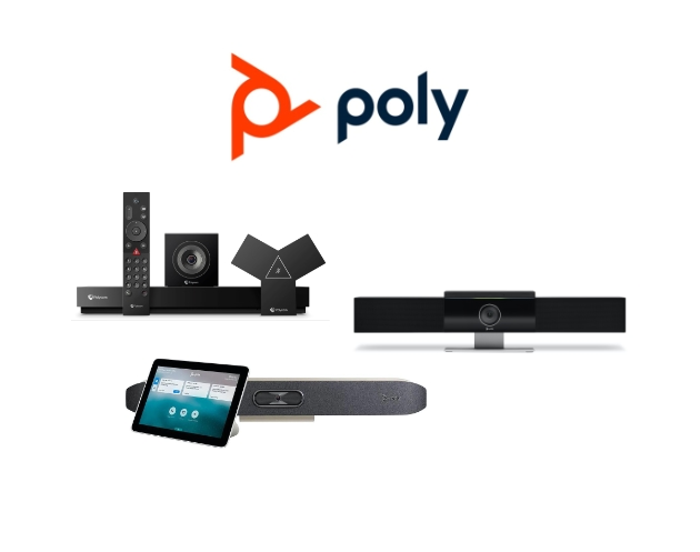Poly video conferencing equipment and hardware